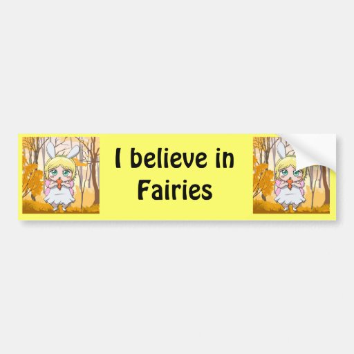Fairy Rabbit girl Bumper Sticker