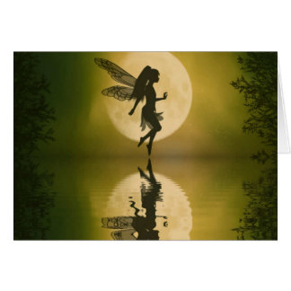Fairy Reflect Siluetts Note card