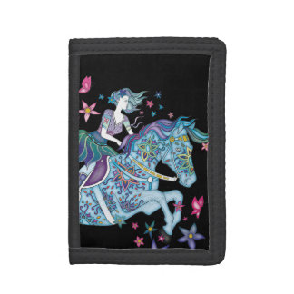 Fairy Rider Trifold Wallets