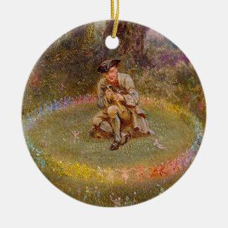 Fairy Ring Round Ceramic Decoration