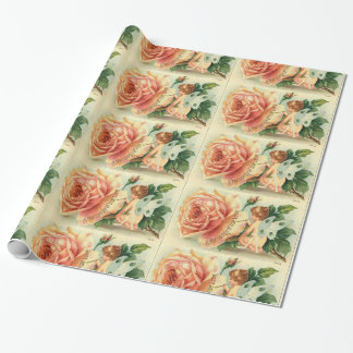 Fairy rose wrapping paper