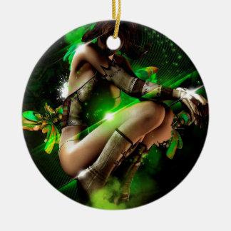 fairy round ceramic decoration