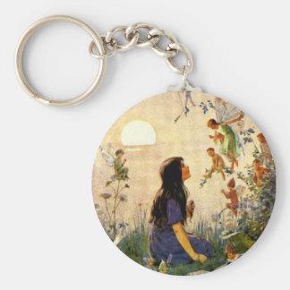 Fairy Secrets Vintage Print Keychain