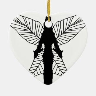 Fairy Silhouette Ceramic Heart Decoration