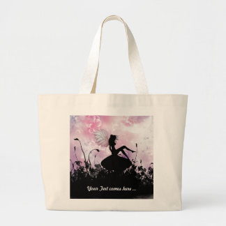 Fairy Silhouette Large Tote Bag