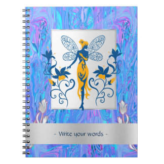 Fairy silhouette on ice Personalized Note Book