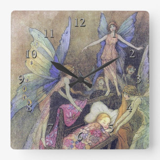 Fairy Singing to Baby by Warwick Goble Wall Clocks