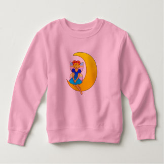 Fairy Sitting on a Crescent Moon Sweatshirt