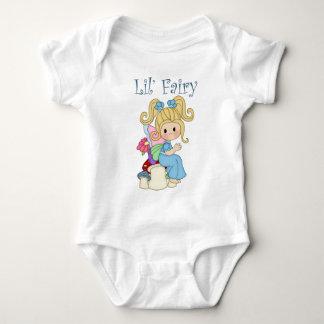 Fairy Sitting on Mushrooms Design Baby Bodysuit