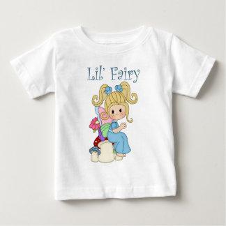 Fairy Sitting on Mushrooms Design Baby T-Shirt