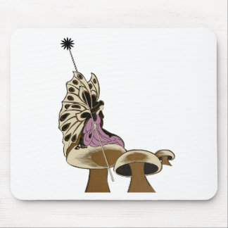 Fairy Sitting Upon A Mushroom Mythical Being Mouse Pad