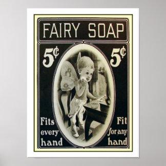 Fairy Soap Vintage Ad Print 12 x 16