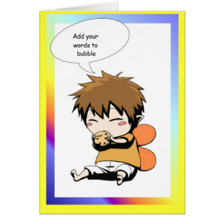 Fairy speech bubble I love cookies Card