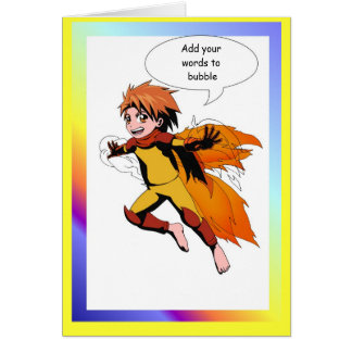 Fairy speech bubble, Superboy Greeting Card