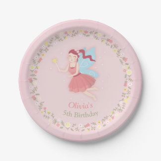 Fairy Spring Girls Pink Birthday Party Supplies Paper Plate