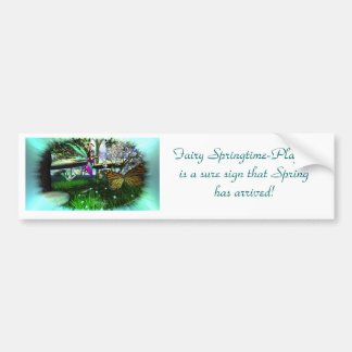 Fairy Springtime-Playing Bumper Sticker