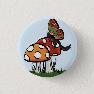 Fairy Squirrel with Mushrooms 3 Cm Round Badge