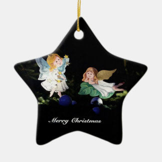 Fairy star christmas ornament