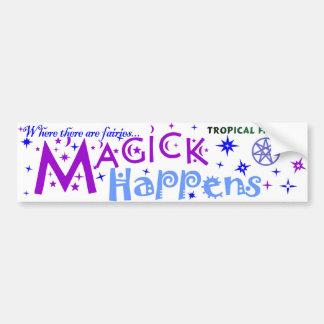 Fairy Sticker - magick happens... Bumper Sticker