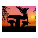 fairy sunset post card