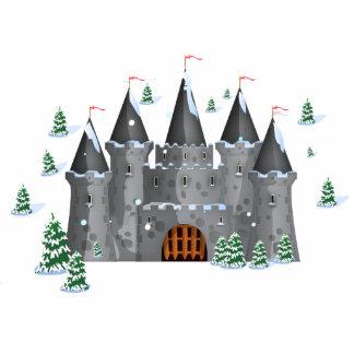 Fairy-tail castle Winter Standing Photo Sculpture