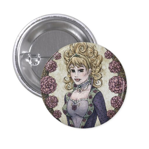 """Fairy Tale """"Beauty"""" Fantasy Art Button"""