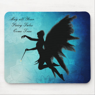Fairy Tale, Blue and Black Magical Mouse Pad