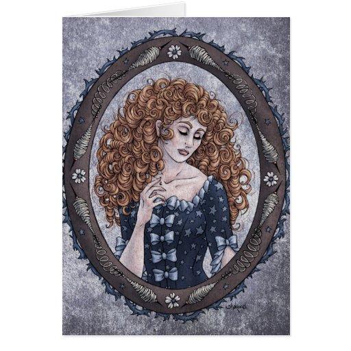 """Fairy Tale """"Briar Rose"""" Fantasy Art Card #1"""