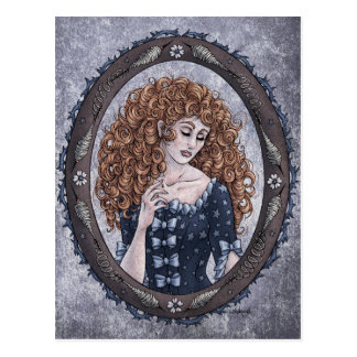 Fairy Tale Briar Rose Fantasy Art Postcard 1