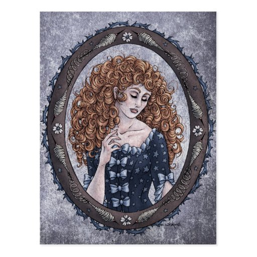 "Fairy Tale ""Briar Rose"" Fantasy Art Postcard #1"
