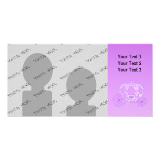 Fairy Tale Carriage in Purple. Customized Photo Card