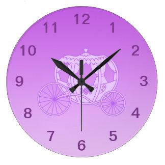 Fairy Tale Carriage in Purple. Wallclocks