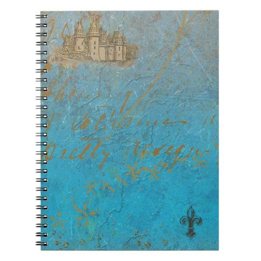 Fairy Tale Castle & Fleur de lis Notebook
