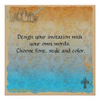 Fairy Tale Castle Invitation Card