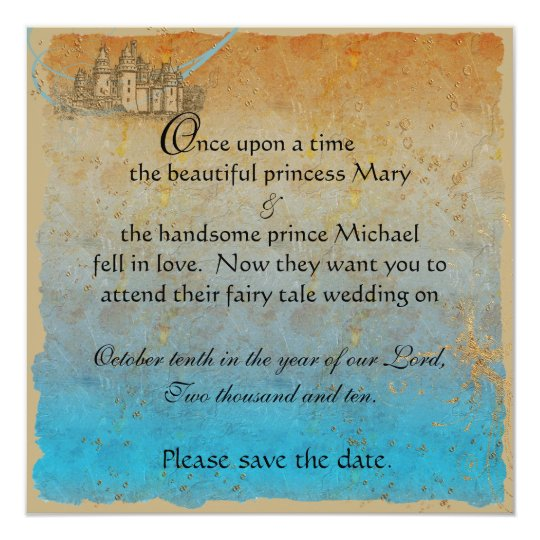 Fairy Tale Castle Save the Date Card