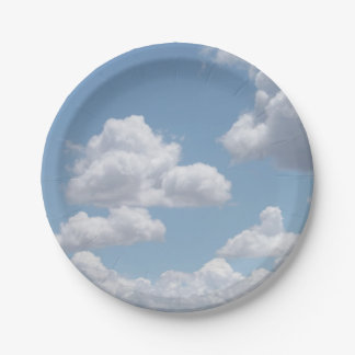 Fairy Tale Clouds Paper Plates 7 Inch Paper Plate