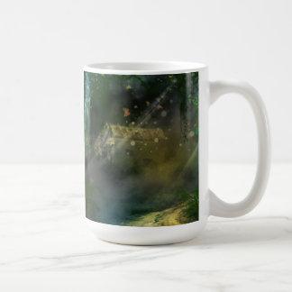 Fairy tale cottage basic white mug