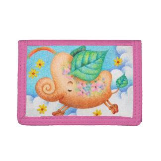 Fairy tale elephant tri-fold wallet