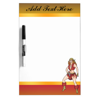 Fairy Tale Female Pirate Dry Erase Board