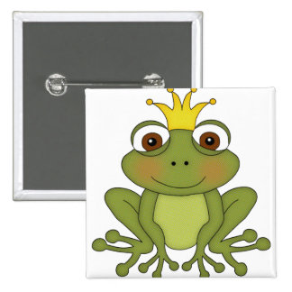 Fairy Tale Frog Prince with Crown 15 Cm Square Badge