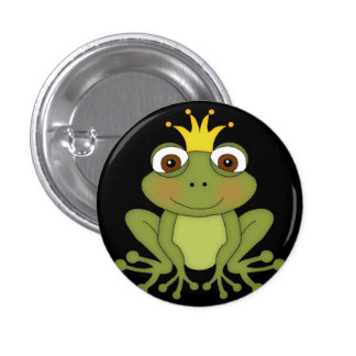 Fairy Tale Frog Prince with Crown Button