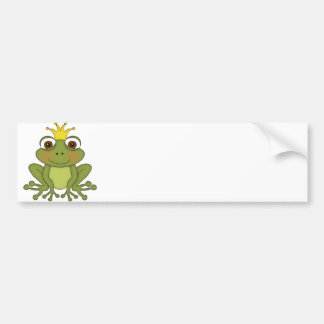 Fairy Tale Frog Prince with Crown Bumper Sticker
