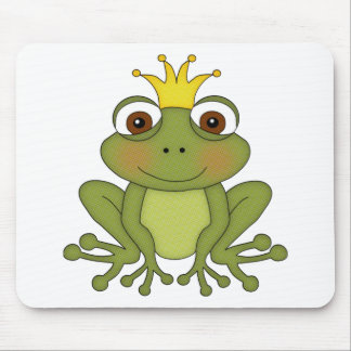 Fairy Tale Frog Prince with Crown Mouse Mat