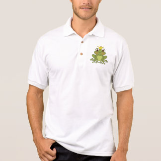 Fairy Tale Frog Prince With Crown Polo Shirt