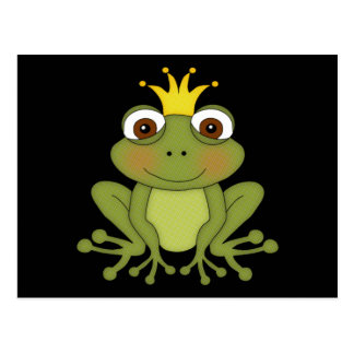 Fairy Tale Frog Prince with Crown Postcards
