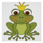 Fairy Tale Frog Prince with Crown Poster