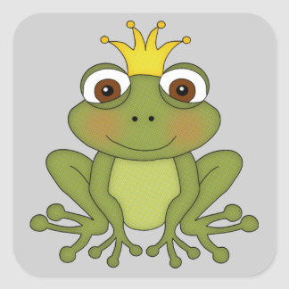 Fairy Tale Frog Prince with Crown Stickers