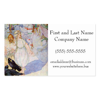 Fairy Tale Girl Blond Princess and Ravens Pack Of Standard Business Cards