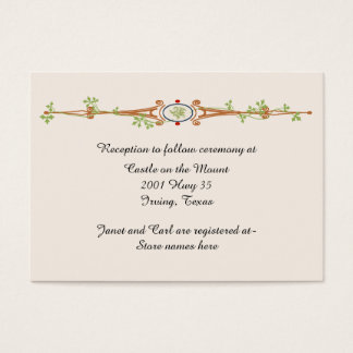 Fairy Tale Ivory Wedding Information Card