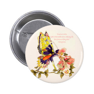 Fairy Tale Kiss Round Button
